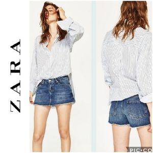 Zara Woman Premium Denim Collection Skort Sz 4